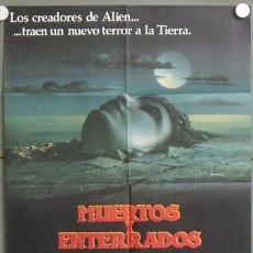 Cine: MQ59 MUERTOS Y ENTERRADOS JAMES FARENTINO MELODY ANDERSON POSTER ORIGINAL 70X100 ESTRENO. Lote 19999004