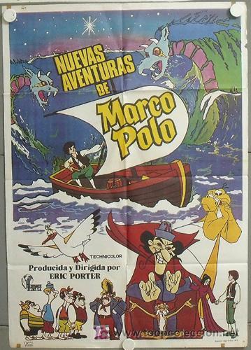 MQ66 NUEVAS AVENTURAS DE MARCO POLO ANIMACION POSTER ORIGINAL 70X100 ESTRENO (Cine - Posters y Carteles - Infantil)