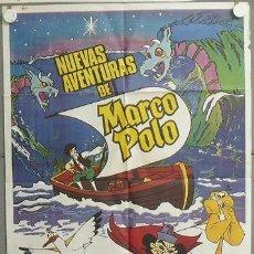 Cine: MQ66 NUEVAS AVENTURAS DE MARCO POLO ANIMACION POSTER ORIGINAL 70X100 ESTRENO. Lote 19999741