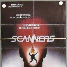 Cine: MQ78 SCANNERS DAVID CRONENBERG POSTER ORIGINAL 70X100 ESTRENO. Lote 20123388