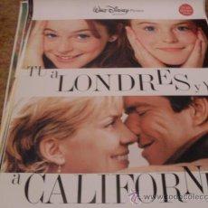 Cine: TU A LONDRES Y YO A CALIFORNIA DISNEY GRAN FORMATO. Lote 23310669