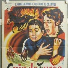 Cine: MQ82 CRIN DE FUEGO KOJI SHIMA CARRERAS DE CABALLOS POSTER ORIGINAL 70X100 ESTRENO. Lote 20123803