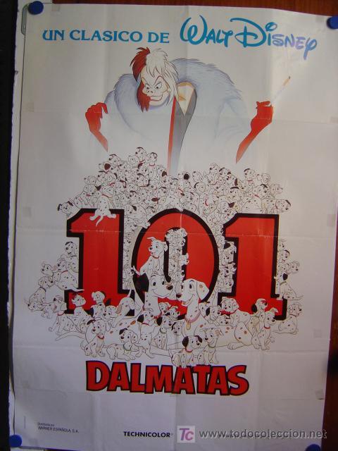 101 DALMATAS - WALT DISNEY (Cine - Posters y Carteles - Infantil)