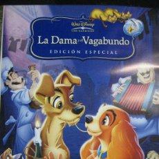 Cine: POSTER-LA DAMA Y EL VAGABUNDO-ORIGINAL DISNEY-97CM ALTO POR 67,5 ANCHO***. Lote 34231050