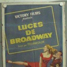 Cine: MR42 LUCES DE BROADWAY TONY MARTIN JANET LEIGH POSTER ORIGINAL ESTRENO 70X100 LITOGRAFIA. Lote 20367281