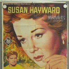 Cine: MR47 LA MUJER OBSESIONADA SUSAN HAYWARD SOLIGO POSTER ORIGINAL ESTRENO 70X100 LITOGRAFIA. Lote 20367866
