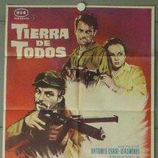 Cine: MS07 TIERRA DE TODOS ANTONIO ISASI GUERRA CIVIL POSTER ORIGINAL 70X100 DEL ESTRENO. Lote 20425271
