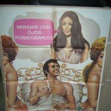 Cine: MIRAME CON OJOS PORNOGRAFICOS AMPARO MUÑOZ HELGA LINE DISEÑO MAC POSTER ORIGINAL 70X100 Q. Lote 26890927