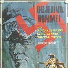 Cinema: MS94 OBJETIVO ROMMEL SEGUNDA GUERRA MUNDIAL AL BRESCIA POSTER ORIGINAL 70X100 ESTRENO. Lote 20448970