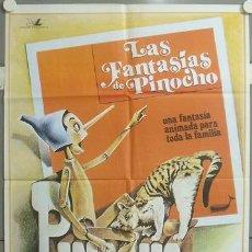 Cine: MT01 LAS FANTASIAS DE PINOCHO ANIMACION POSTER ORIGINAL 70X100 ESTRENO. Lote 20449579