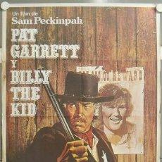 Cine: MT04 PAT GARRETT Y BILLY THE KID SAM PECKINPAH BOB DYLAN POSTER ORIGINAL ESTRENO 70X100. Lote 288587083