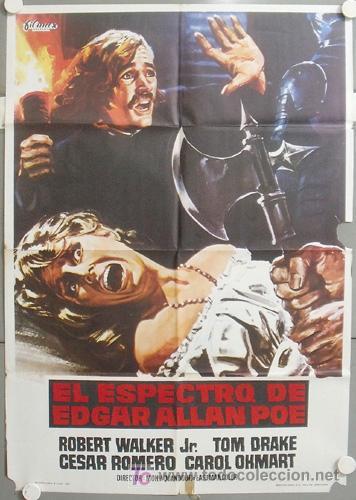 MT14 EL ESPECTRO DE EDGAR ALLAN POE ROBERT WALKER JR. CESAR ROMERO POSTER ORIGINAL 70X100 ESTRENO (Cine - Posters y Carteles - Terror)