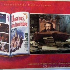 Cine: UNA VEZ UN HOMBRE - AMPARO RIVELLES - ENRIQUE RAMBAL - ORIGINAL LOBBY CARD MEXICANO. Lote 20537983
