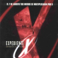 Cine: 'EXPEDIENTE X - ENFRÉNTATE AL FUTURO', CON DAVID DUCHOVNY. TEASER PÓSTER.. Lote 20538474