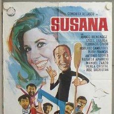 Cine: MU96 SUSANA CONCHA VELASCO JUANJO MENENDEZ POSTER ORIGINAL 70X100 ESTRENO. Lote 20541270