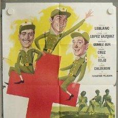 Cine: MV20 3 DE LA CRUZ ROJA TONY LEBLANC FUTBOL REAL MADRID POSTER ORIGINAL 70X100 ESTRENO. Lote 20544078