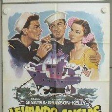 Cine: MV39 LEVANDO ANCLAS GENE KELLY FRANK SINATRA MAC POSTER ORIGINAL 70X100 ESPAÑOL. Lote 20554131