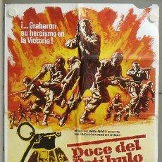 Cine: MV42 DOCE DEL PATIBULO LEE MARVIN CHARLES BRONSON POSTER ORIGINAL 70X100 ESPAÑOL. Lote 20554708
