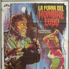 Cine: YX75D LA FURIA DEL HOMBRE LOBO PAUL NASCHY SOLIGO POSTER ORIGINAL 70X100 ESPAÑOL. Lote 20558646