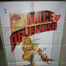 Cine: DULCE Y PELIGROSA ANNE RANDALL POSTER ORIGINAL 70X100 DISEÑO GAMERO Q. Lote 26360614