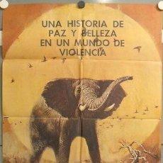 Cine: MW28 EL COLOSO DE LA SELVA ELEFANTE DOCUMENTAL AFRICA POSTER ORIGINAL ESTRENO 70X100. Lote 20573023