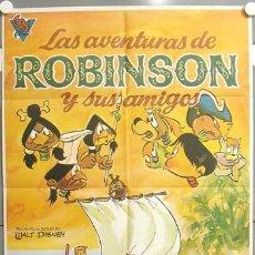 Cine: MW50 LAS AVENTURAS DE ROBINSON Y SUS AMIGOS ANIMACION POSTER ORIGINAL ESTRENO 70X100. Lote 20574548