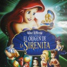 Cine: POSTER ORIGINAL DE LA PELICULA DE DISNEY LA SIRENITA NUEVO-IMPRESIONANTE ILUSTRACIÓN. Lote 70368658