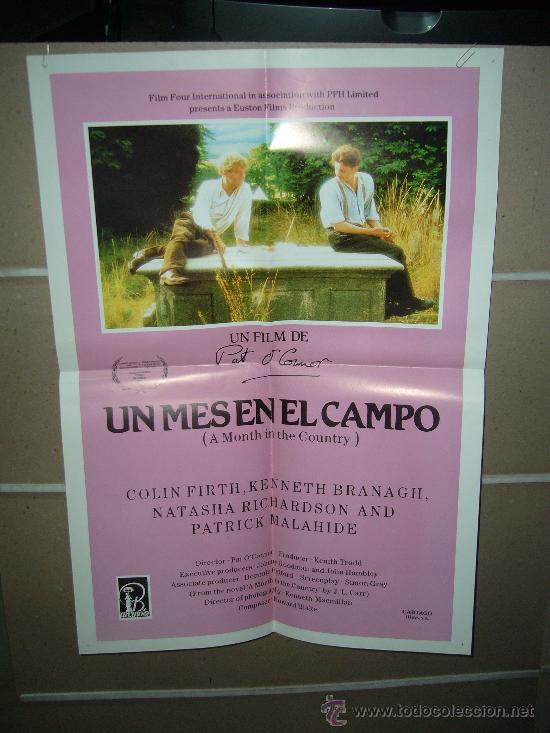 UN MES EN EL CAMPO KENNETH BRANAGH POSTER ORIGINAL 50X70 DEL ESTRENO D48 (Cine- Posters y Carteles - Drama)