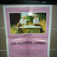 Cine: UN MES EN EL CAMPO KENNETH BRANAGH POSTER ORIGINAL 50X70 DEL ESTRENO D48. Lote 23171732