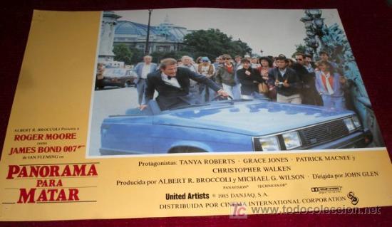 PANORAMA PARA MATAR - ROGER MOORE - JAMES BOND 007 - AFICHE ORIGINAL CINE (Cine - Posters y Carteles - Acción)