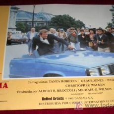 Cine: PANORAMA PARA MATAR - ROGER MOORE - JAMES BOND 007 - AFICHE ORIGINAL CINE. Lote 25726982