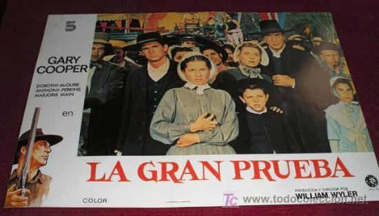 LA GRAN PRUEBA - GARY COOPER - AFICHE ORIGINAL CINE (Cine - Posters y Carteles - Westerns)