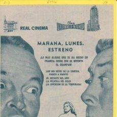 Cine: EMBRUJO DE PARIS: DIRECTOR: JERD OSWALD - ACTORES: BOB HOPE, FERNANDEL, ANITA EKBERG Y MARTHA HYER. Lote 20820160