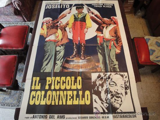 POSTER ORIGINAL ITALIANO EL PEQUEÑO CORONEL IL PICCOLO COLONNELLO THE LITTLE COLONEL JOSELITO 1960 (Cine - Posters y Carteles - Clasico Español)