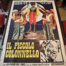 Cine: POSTER ORIGINAL ITALIANO EL PEQUEÑO CORONEL IL PICCOLO COLONNELLO THE LITTLE COLONEL JOSELITO 1960. Lote 21175808