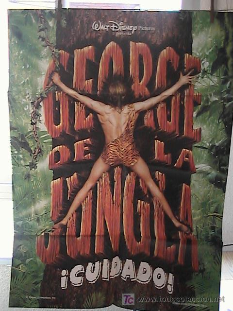 GEOGE DE LA JUNGLA,DISNEY CARTEL DE CINE ORIGINAL 70X100 APROX (13) (Cine - Posters y Carteles - Infantil)