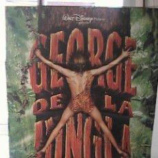 Cine: GEOGE DE LA JUNGLA,DISNEY CARTEL DE CINE ORIGINAL 70X100 APROX (13). Lote 21217634