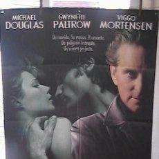 Cine: UN CRIMEN PERFECTO,MICHAEL DOUGLAS CARTEL DE CINE ORIGINAL 70X100 APROX (16). Lote 21232851