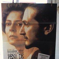 Cine: PENA DE MUERTE, CARTEL DE CINE ORIGINAL 70X100 APROX (19). Lote 21247603