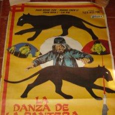 Cine: LA DANZA DE LA PANTERA BORRACHA. HUANG CHEN LI. LIN YIN. FILMAX 1980. 1 METRO POR 70 CM. Lote 21265916