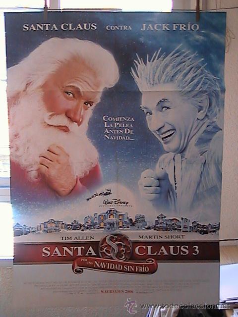 SANTA CLAUS 3 POR UNA NAVIDAD SIN FRIO,DISNEY CARTEL DE CINE ORIGINAL 70X100 APROX (26) (Cine - Posters y Carteles - Infantil)