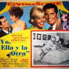 Cine: DORIS DAY - YO ELLA Y LA OTRA - JAMES GARNER - POLLY BERGEN - ORIGINAL LOBBY CARD MEXICANO. Lote 21360006