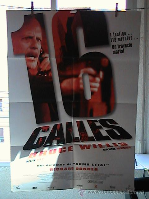 16 CALLES,BRUCE WILLIS CARTEL DE CINE ORIGINAL 70X100 APROX (27) (Cine - Posters y Carteles - Acción)