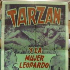Cine: CARTEL DE CINE. TARZAN Y LA MUJER LEOPARDO.. Lote 26184768
