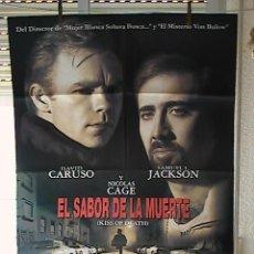 Cine: EL SABOR DE LA MUERTE,NICOLAS CAGE, SAMUEL L JACKSON CARTEL DE CINE ORIGINAL 70X100 APROX (33). Lote 21569751