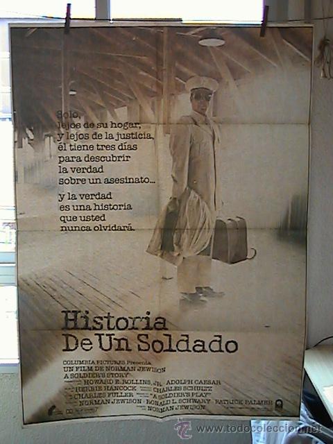 HISTORIA DE UN SOLDADO, CARTEL DE CINE ORIGINAL 70X100 APROX (35) (Cine - Posters y Carteles - Bélicas)