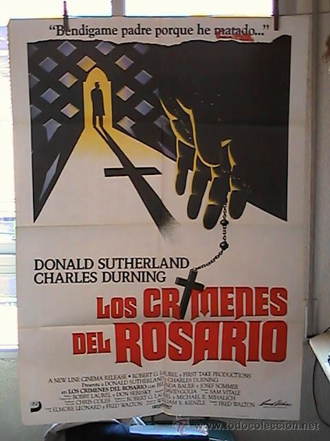LOS CRIMENES DEL ROSARIO,DONALD SUTHERLAND CARTEL DE CINE ORIGINAL 70X100 APROX (36) (Cine - Posters y Carteles - Clasico Español)