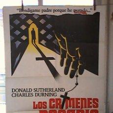 Cine: LOS CRIMENES DEL ROSARIO,DONALD SUTHERLAND CARTEL DE CINE ORIGINAL 70X100 APROX (36). Lote 21571436
