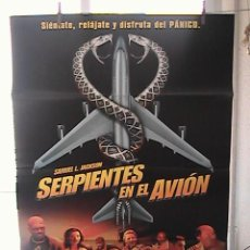 Cine: SERPIENTES EN EL AVION, CARTEL DE CINE ORIGINAL 70X100 APROX (36). Lote 21571618