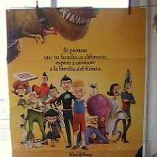 Cine: DESCUBRIENDO A LOS ROBINSONS,DISNEY CARTEL DE CINE ORIGINAL 70X100 APROX (36). Lote 26262182